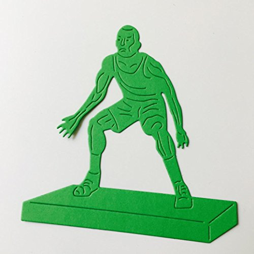 Transer Metal Cutting Dies Defensive Basketball Player Stencil DIY Scrapbooking Embossing Album Paper Card Craft (A)