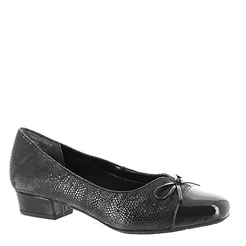 Ros Hommerson Women's Tawnie Pump,Black Lizard Print/Patent,US 6 M -