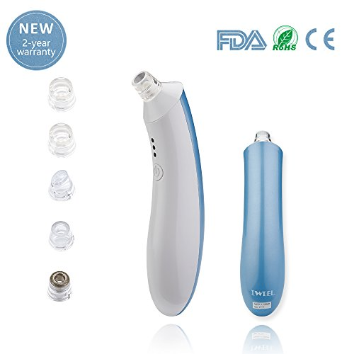 Blackhead Remover Pore Vacuum, Electric Skin Facial Pore Cleanser USB Rechargeable Blackhead Sucker tool Blemish Extractor Comedones Acne Removal Machine for Nose Face Women Men Blue