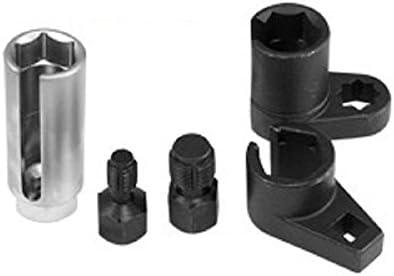 O2 Oxygen Sensor Socket Offset Wrench Remover Tool Thread Chaser 5 Pcs Set 3//8 1//2 22mm