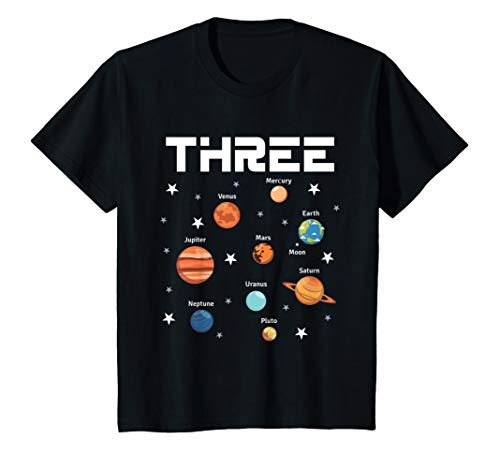 Outer Space Costume Ideas (Kids 3 Year Old Outer Space Birthday Shirt Solar Planets 3rd)