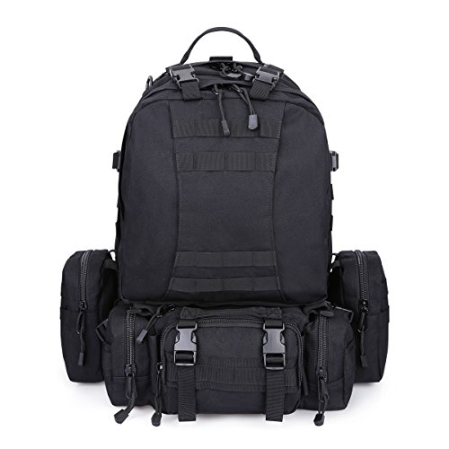 G4Free 50L Molle Military Rucksacks Large Outdoor Tactical Backpack 3 day Assault Pack Combat Backpack Trekking Bag for Hiking Camping Mountain Climbing