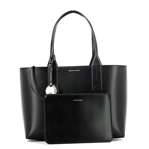 Handbag Noir Logo Shopping Armani Noir Emporio Femme RwIUWq