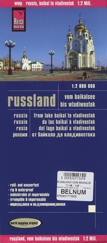 Reise Know-How Landkarte Russland - vom Baikalsee bis Wladiwostok (1:2.000.000): world mapping project
