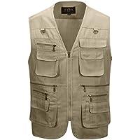 Alipolo Vest Mens Summer Cotton Leisure Outdoor Plus Size...