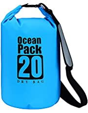 Waterproof Dry Bag,10L/20L/30L,Rainproof Backpack,Floating All Purpose Lightweight Beach Storage bag,Roll Top Dry Compression Sack Keeps Gear Dry, for Kayak,Swim,Boating,Fishing,Camping