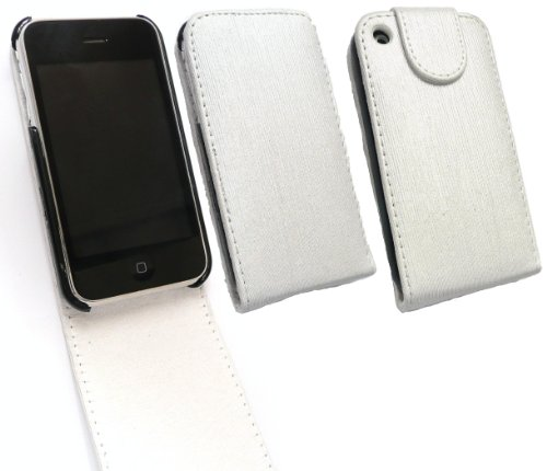 Emartbuy® Apple Iphone 3G / 3Gs Shimmer Fertig Flip Case / Cover / Pouch Weiß