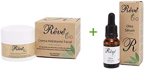 REVE pack Crema Hidratante Facial Bio + Óleo Sérum Bio - Hombre y ...