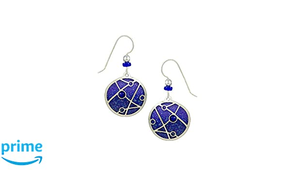 Silverly Womens .925 Sterling Silver 5 mm Abalone Shell Blue Round Circle Disc Stud Earrings