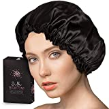 Silk Night Cap by One Planet - Head Cover Bonnet for Beautiful Hair - Wake Up Perfect Daily!
