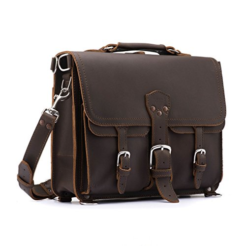 Saddleback Leather Thin Front Pocket Briefcase - 100% Full Grain Leather Laptop Bag with 100 Year Warranty by Saddleback Leather Co.