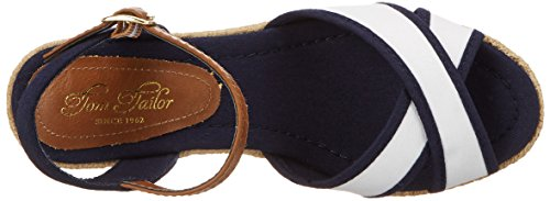 Tom Tailor 2799006, Women's Open Toe Sandals White (White-navy)
