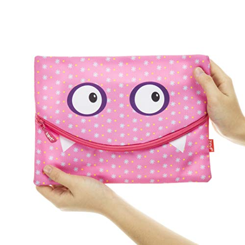 ZIPIT Googly Smile Jumbo Pencil Case, Pink: Amazon.es ...