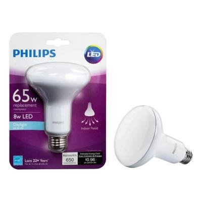 4 Pack Philips 65W Equivalent Daylight BR30 Dimmable LED Light Bulb 5000k