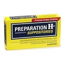 Preparación H supositorios hemorroides, 12 conteo (paquete de 1)