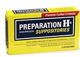 Preparation H Hemorrhoidal Suppositories, 12 Count (Pack of 1)