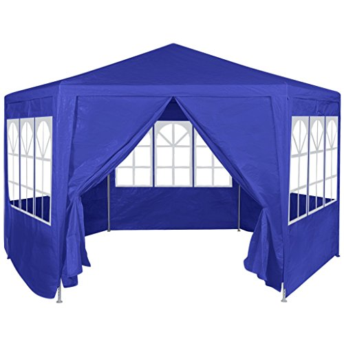 Festnight Garden Outdoor Gazebo Canopy with 6 Sides Removable Walls and Zip Doors Heavy Duty Patio Party Wedding Tent BBQ Shelter Pavilion Cater Events (Blue) by Festnight