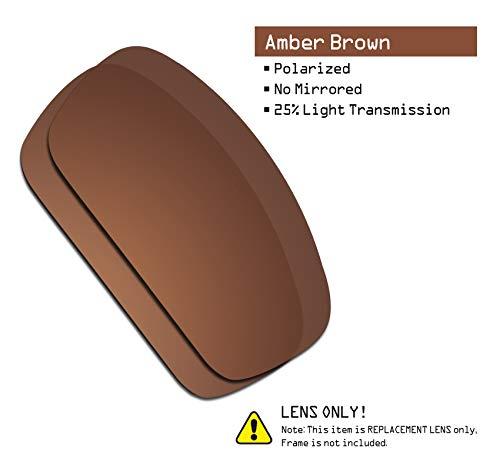 859a9c4c60a Amazon.com  SmartVLT Men s Amber Brown Replacement Lenses for Oakley  Splinter Sunglass  Clothing