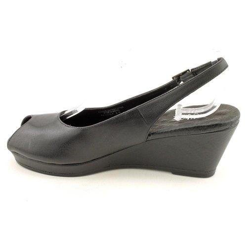 Gående Vaggor Kvinna Natasha Pump Svart Mjukt Läder