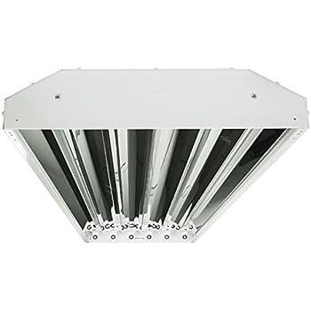 6 Lamp T8 High Bay Fluorescent Fixture W Mirror Reflector