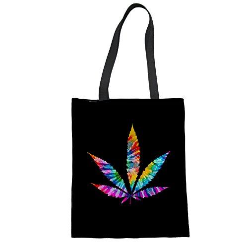 HUGS IDEA Y-CC605Z22 - Bolso de tela para mujer, Cannabis Leaf3 (Verde) - Y-CC6052Z22 Cannabis Leaf1