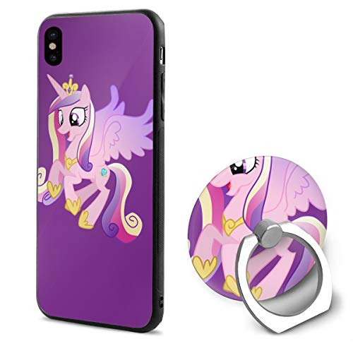 BAIXRU Fashion Happy Flying Cadence My Little Pony IPhone X Mobile Phone Shell Ring Bracket White 48 ()