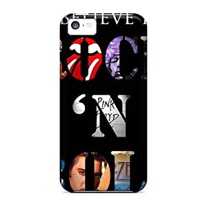 Durable Hard Cell-phone Case For Iphone 5c With Unique Design Trendy Rolling Stones Image KellyLast