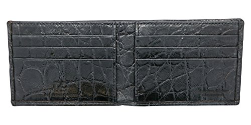 Black Genuine Alligator Millennium Bifold Wallet – Alligator Inside and Out RARE - Factory Direct - Gift Box – Slim Bllfold - Made in USA by Real Leather Creations FBA297 by Real Leather Creations (Image #5)