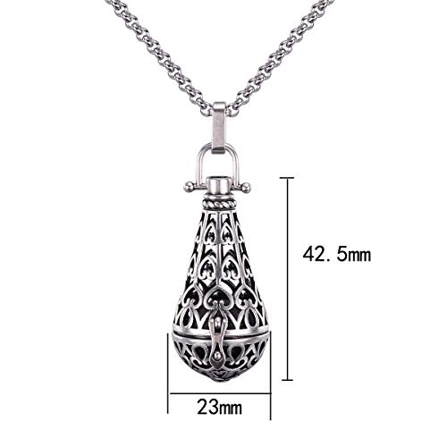 Candyfancy Antique Silver-Tone Locket Pendant, No Color, Size No Size