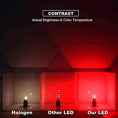 DODOFUN CANBUS T10 Extra Bright Red Color Car Interior Exterior Replacement Bulb 168 175 194 2825 W5W etc. Size Map Dome Door LED Light 12V ~ 24V Error Free (Pack of 4): Automotive