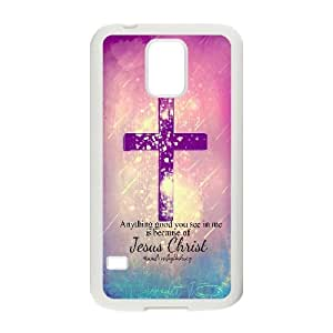 Jesus,god bless us Pattern Hard Snap Cell Phone Case for For Samsung Galaxy Case S5 FKGZ431980