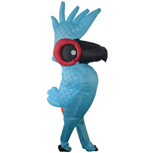 Halloween Advertising Campaigns (OLLVU Adult Halloween Cartoon Creative Inflatable Suit Funny Parrot Student Graduation Performance Party Commercial Advertising Campaign (Color : Blue, Size :)