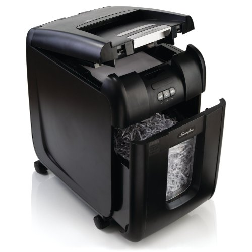 Swingline Paper Shredder, Auto Feed, 230 Sheet Capacity, Super Cross-Cut, 1-5 Users, Stack-and-Shred 230X (1757573) ()