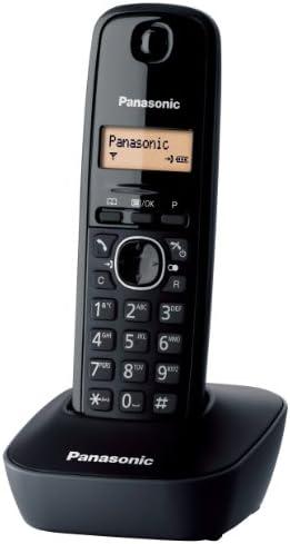 Panasonic KX-TG1611 - Teléfono (DECT, Terminal inalámbrico, 50 entradas, Identificador de Llamadas) Color Negro [Versión Importada]: Panasonic: Amazon.es: Electrónica