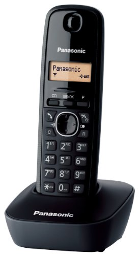 Panasonic KX-TG1611 - telephones (DECT, Desk, Black, LCD, AAA, Digital) - Icon Lcd Keypad
