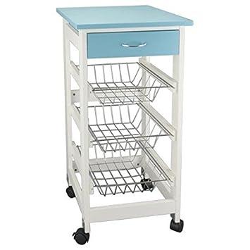 Lifetime Tisch Rollwagen Küchenwagen Ablagegestell Aufbewahrungsbox ...