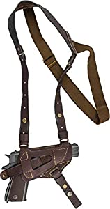 XCH Shoulder Holster Compatible with 1911 Type Pistols, Defender, Zastava M57, Zastava M88, Zastava M70, Tokarev TT, Sig Sauer P238 / P938 / P230, Makarov, Beretta Cheetah, Other subcompact Pistols