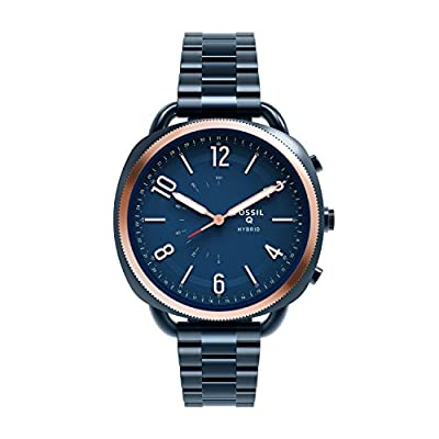 Fossil Hybrid Smartwatch - Q Accomplice Navy Blue Stainless by Fossil Watches