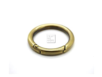 Amazon.com: CRAFTMEmore 4PCS 3/4 INCH Brushed Brass Tiny O Rings ...