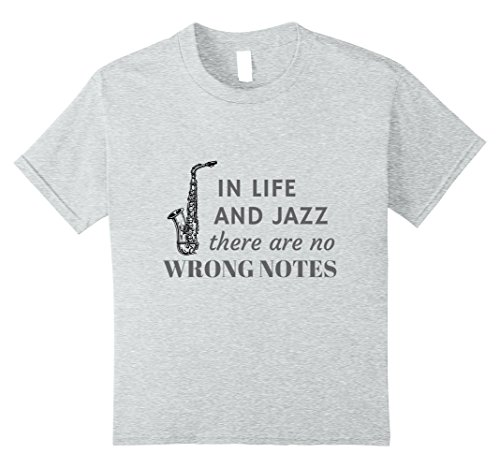 Price comparison product image unisex-child In Life and Jazz There Are No Wrong Notes 8 Heather Grey