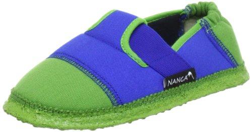 Nanga Klette Jungen Flache Hausschuhe Blau (35)
