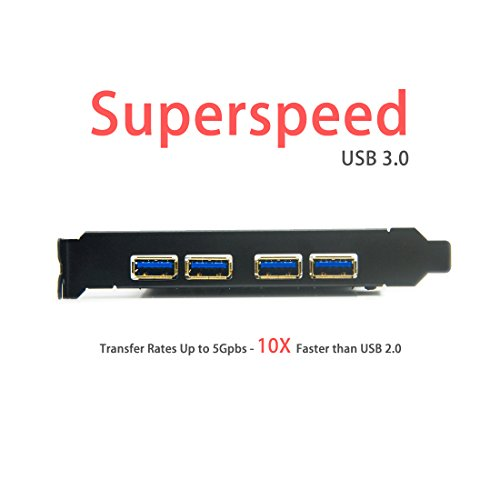 Mailiya PCI-E to USB 3.0 4 Port PCI Express Expansion Card (PCIe Card),Superspeed USB 3.0 Card 15-Pin Power Connector Desktops,Super Speed up to 5Gbps by Mailiya (Image #5)