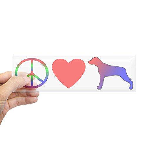 CafePress Peace, Love, Catahoula Leopard Dog Bumper Sticker 10