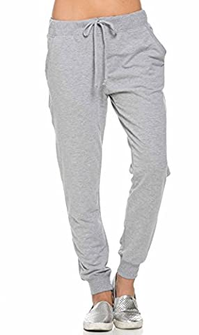 Classic Drawstring Jogger Pants in Gray