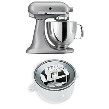 Stupendous Kitchenaid Ksm150Pssm Artisan 5 Quart Stand Mixer Silver Interior Design Ideas Lukepblogthenellocom
