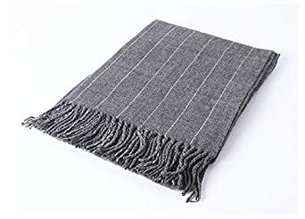 Women Long Scarf Shawl Neck Warmer Cable Tassel Soft Wrap Scarves for Winter