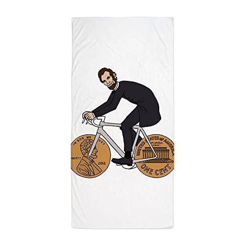 CafePress Abraham Lincoln On A Bike with Penny W Large Beach Towel, Soft 30