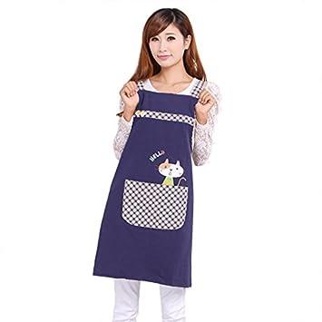 209c91b6339 Image Unavailable. Image not available for. Color  Hot Sale Cute Cat fashion  princess tea shop kindergarten apron woman lady work wear cotton overall