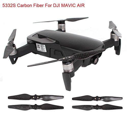 Kanzd 1Pair/2 Pairs For DJI Mavic Air Propeller 5332S Carbon Fiber CF 5332 Drone Props (2 - Carbon Fiber 3dr