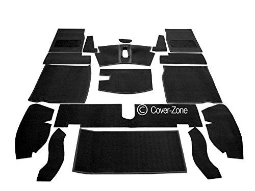 Carrelli Black Hessian Backed Carpet Set To Fit MG Midget 1275cc & 1500cc '66-80 Sports Vehicle ()